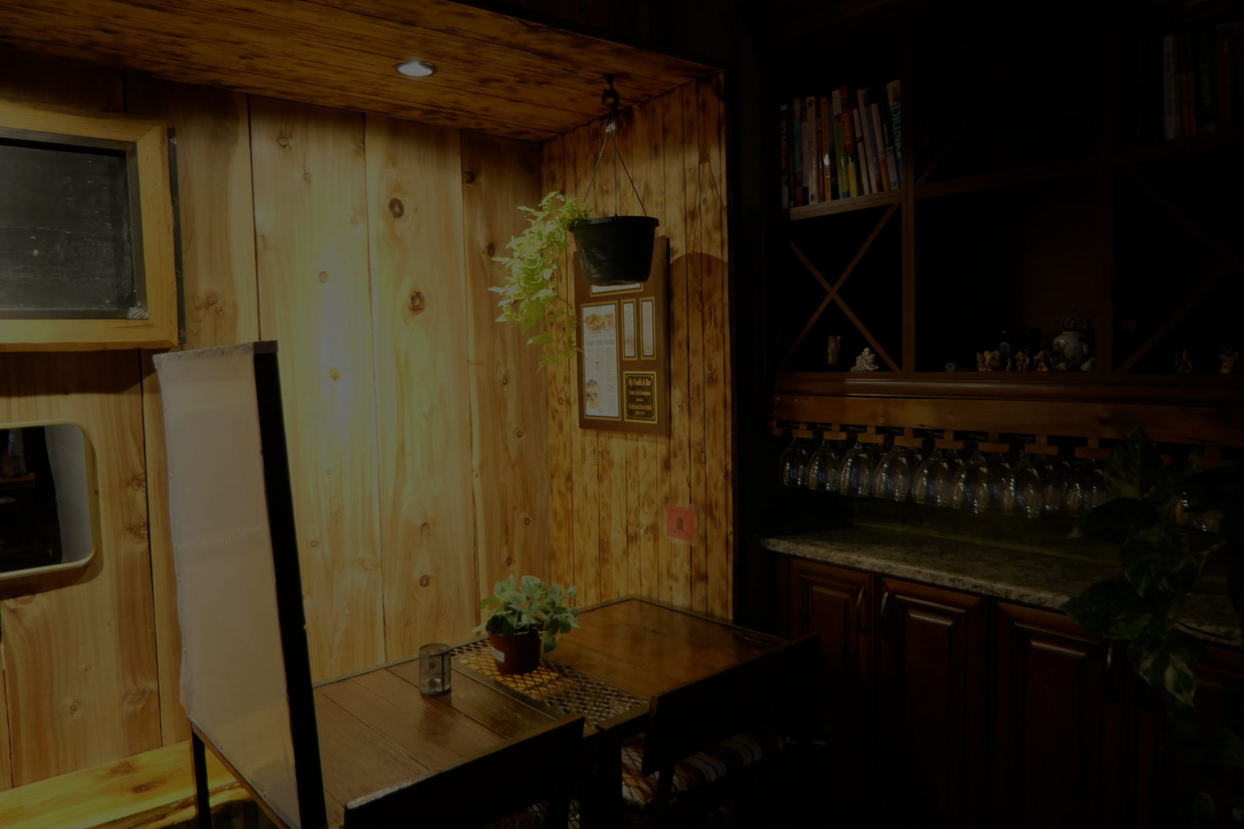 Slider image #4, dim corner area for private meals and dates